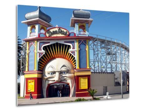 Entrance Gate to Luna Park, Melbourne, Victoria, Australia-David Wall-Metal Print