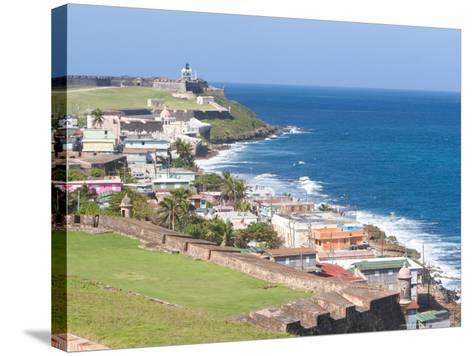 View towards El Morro from Fort San Cristobal in San Juan, Puerto Rico-Jerry & Marcy Monkman-Stretched Canvas Print