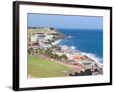 View towards El Morro from Fort San Cristobal in San Juan, Puerto Rico-Jerry & Marcy Monkman-Framed Art Print