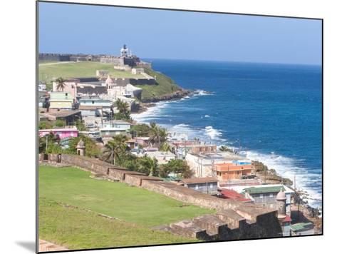 View towards El Morro from Fort San Cristobal in San Juan, Puerto Rico-Jerry & Marcy Monkman-Mounted Photographic Print