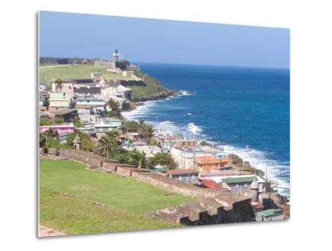 View towards El Morro from Fort San Cristobal in San Juan, Puerto Rico-Jerry & Marcy Monkman-Metal Print