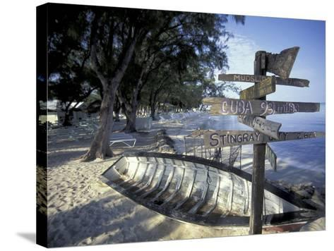 View of Rum Point on Grand Cayman, Cayman Islands, Caribbean-Robin Hill-Stretched Canvas Print