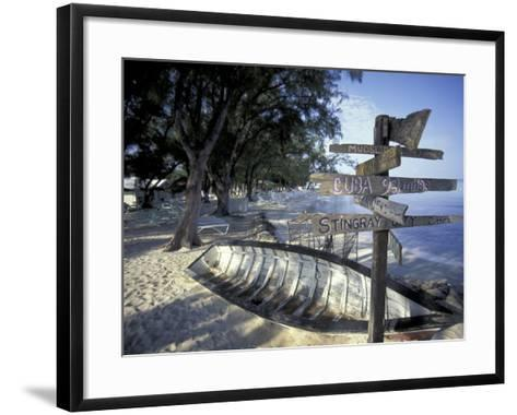 View of Rum Point on Grand Cayman, Cayman Islands, Caribbean-Robin Hill-Framed Art Print