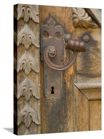 Old Door Handle, Ceske Budejovice, Czech Republic-Russell Young-Stretched Canvas Print