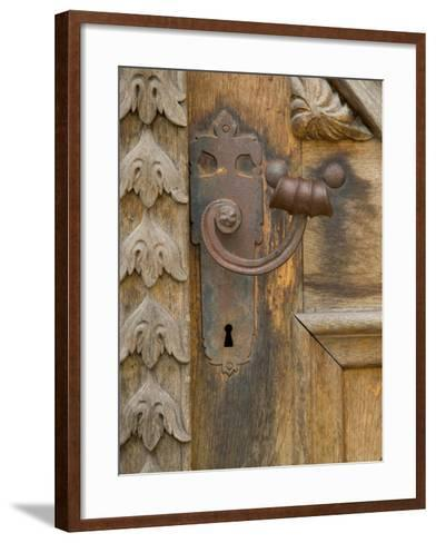 Old Door Handle, Ceske Budejovice, Czech Republic-Russell Young-Framed Art Print