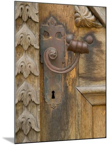 Old Door Handle, Ceske Budejovice, Czech Republic-Russell Young-Mounted Photographic Print
