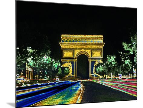 Champs Elysees and Arc de Triomphe, Paris, France-Bill Bachmann-Mounted Photographic Print