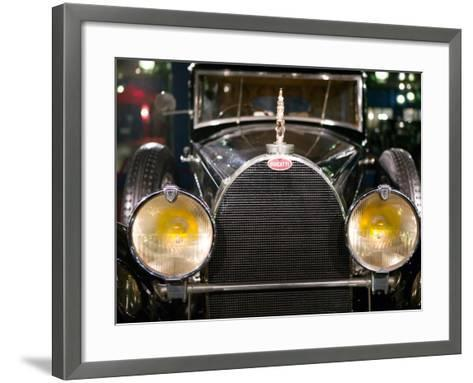 Musee National de l'Automobile, Bugatti Grille, Haut Rhin, France-Walter Bibikow-Framed Art Print
