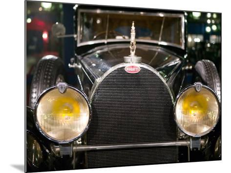 Musee National de l'Automobile, Bugatti Grille, Haut Rhin, France-Walter Bibikow-Mounted Photographic Print