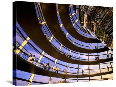 Roof Dome, Reichstag, Berlin, Germany-Walter Bibikow-Stretched Canvas Print