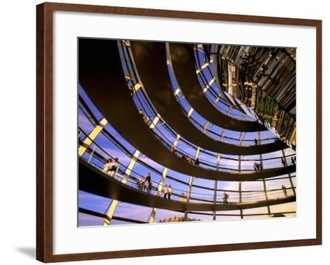 Roof Dome, Reichstag, Berlin, Germany-Walter Bibikow-Framed Art Print