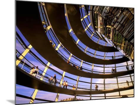 Roof Dome, Reichstag, Berlin, Germany-Walter Bibikow-Mounted Photographic Print