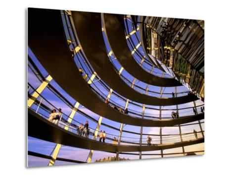 Roof Dome, Reichstag, Berlin, Germany-Walter Bibikow-Metal Print