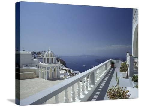 Thira and the Caldera, Santorini, Cyclades Islands, Greece-Michele Molinari-Stretched Canvas Print