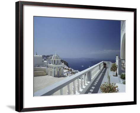 Thira and the Caldera, Santorini, Cyclades Islands, Greece-Michele Molinari-Framed Art Print
