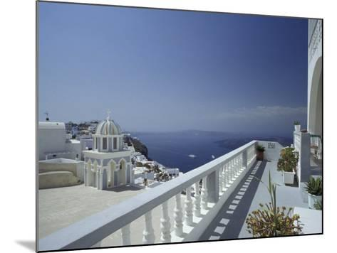 Thira and the Caldera, Santorini, Cyclades Islands, Greece-Michele Molinari-Mounted Photographic Print