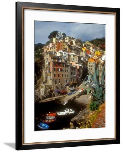Town View, Rio Maggiore, Cinque Terre, Italy-Alison Jones-Framed Art Print