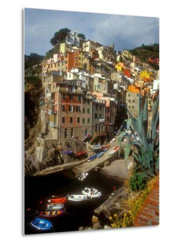 Town View, Rio Maggiore, Cinque Terre, Italy-Alison Jones-Metal Print