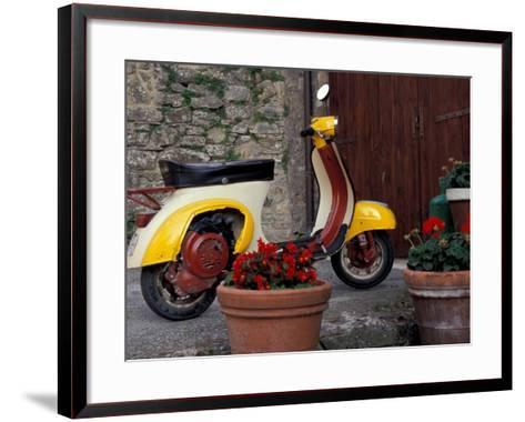 Scooter, Preggio, Umbria, Italy-Inger Hogstrom-Framed Art Print