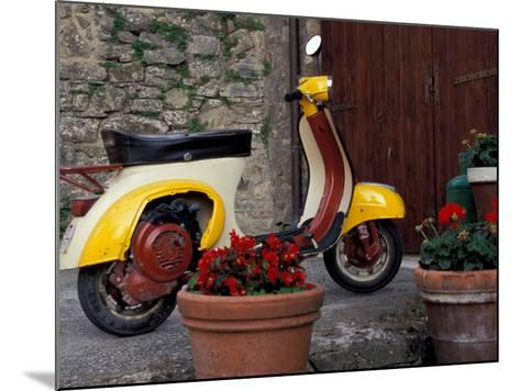 Scooter, Preggio, Umbria, Italy-Inger Hogstrom-Mounted Photographic Print