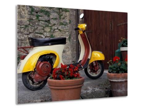 Scooter, Preggio, Umbria, Italy-Inger Hogstrom-Metal Print