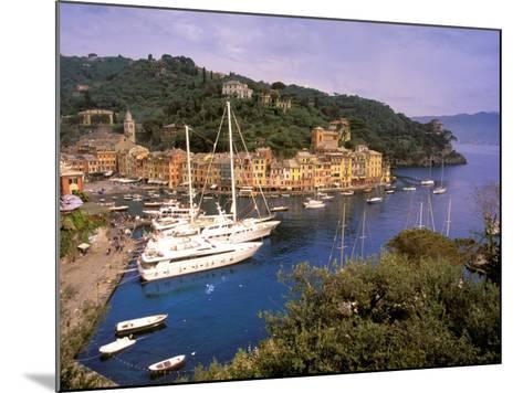 View from Chiesa S. Giorgio, Riviera di Levante, Liguria, Portofino, Italy-Walter Bibikow-Mounted Photographic Print