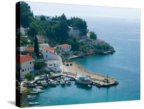 View of Coastline, Dalmatia, Croatia-Russell Young-Stretched Canvas Print