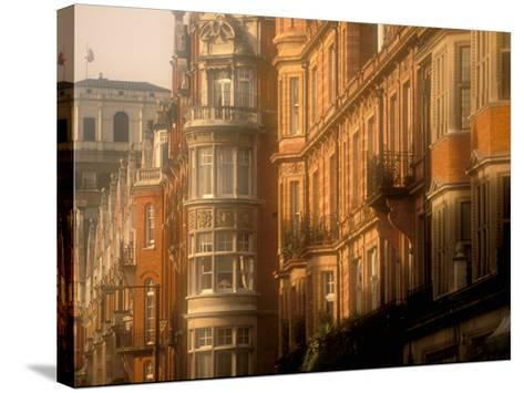 Buildings of Upper Grosvenor Street, Mayfair, London, England-Walter Bibikow-Stretched Canvas Print