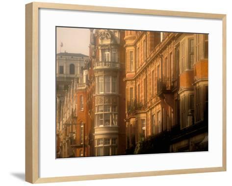 Buildings of Upper Grosvenor Street, Mayfair, London, England-Walter Bibikow-Framed Art Print