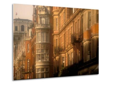 Buildings of Upper Grosvenor Street, Mayfair, London, England-Walter Bibikow-Metal Print