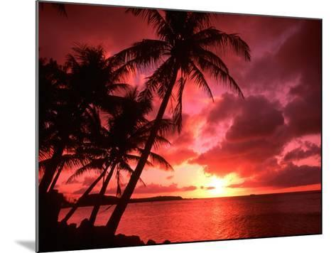 Palms And Sunset at Tumon Bay, Guam-Bill Bachmann-Mounted Photographic Print