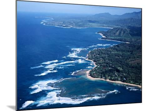 Hanalei Bay and the Distant Princeville Hotel, Kauai, Hawaii, USA-Charles Sleicher-Mounted Photographic Print