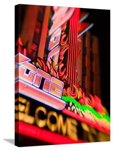 New York, New York Casino, Las Vegas, Nevada, USA-Walter Bibikow-Stretched Canvas Print
