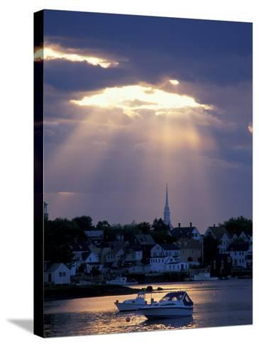 The North Church Rises Above Portsmouth, Piscataqua River, New Hampshire, USA-Jerry & Marcy Monkman-Stretched Canvas Print