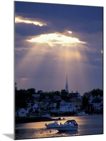 The North Church Rises Above Portsmouth, Piscataqua River, New Hampshire, USA-Jerry & Marcy Monkman-Mounted Photographic Print