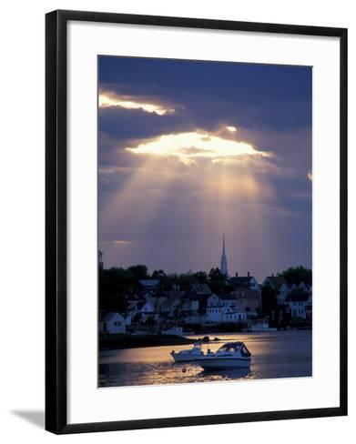 The North Church Rises Above Portsmouth, Piscataqua River, New Hampshire, USA-Jerry & Marcy Monkman-Framed Art Print