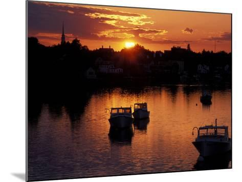 Sunset on Boats in Portsmouth Harbor, New Hampshire, USA-Jerry & Marcy Monkman-Mounted Photographic Print