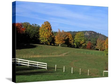 Horse Farm in New England, New Hampshire, USA-Jerry & Marcy Monkman-Stretched Canvas Print