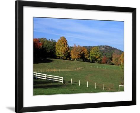 Horse Farm in New England, New Hampshire, USA-Jerry & Marcy Monkman-Framed Art Print