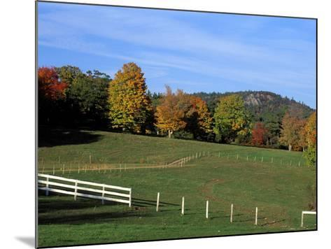 Horse Farm in New England, New Hampshire, USA-Jerry & Marcy Monkman-Mounted Photographic Print