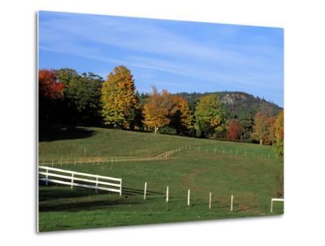 Horse Farm in New England, New Hampshire, USA-Jerry & Marcy Monkman-Metal Print