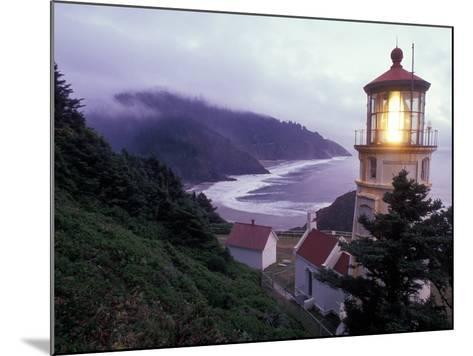 Foggy Day at the Heceta Head Lighthouse, Oregon, USA-Janis Miglavs-Mounted Photographic Print
