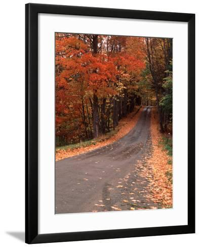 Country Road in Autumn, Vermont, USA-Charles Sleicher-Framed Art Print