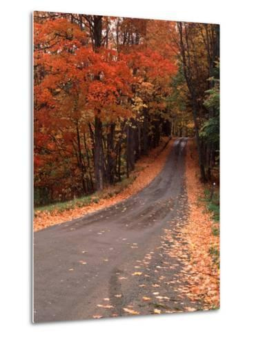 Country Road in Autumn, Vermont, USA-Charles Sleicher-Metal Print