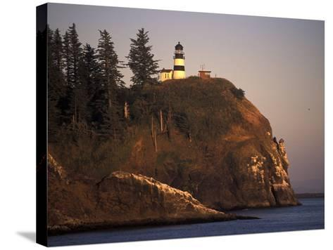 Cape Disappointment Lighthouse, Lewis and Clark Trail, Illwaco, Washington, USA-Connie Ricca-Stretched Canvas Print