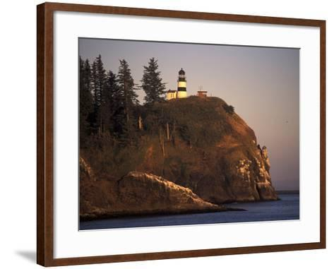 Cape Disappointment Lighthouse, Lewis and Clark Trail, Illwaco, Washington, USA-Connie Ricca-Framed Art Print