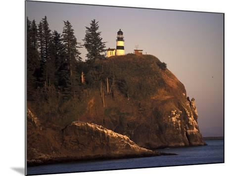 Cape Disappointment Lighthouse, Lewis and Clark Trail, Illwaco, Washington, USA-Connie Ricca-Mounted Photographic Print