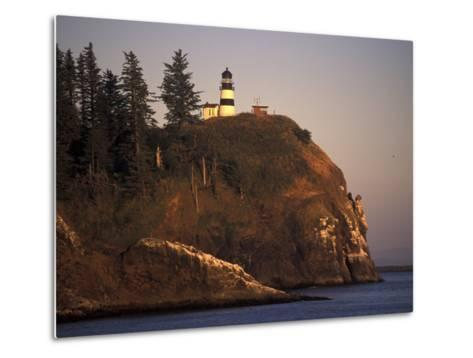 Cape Disappointment Lighthouse, Lewis and Clark Trail, Illwaco, Washington, USA-Connie Ricca-Metal Print