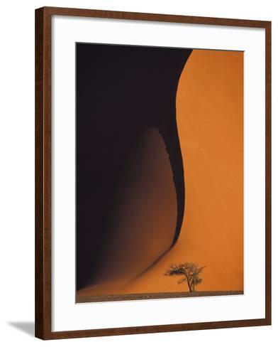 Dusk Falls on Soussevlei Sand Dunes, Namibia-Darrell Gulin-Framed Art Print