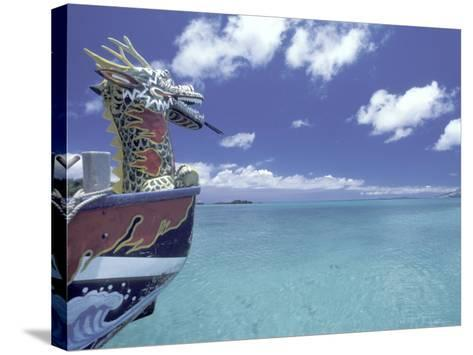 Dragon Boat, Okinawa, Japan-Dave Bartruff-Stretched Canvas Print